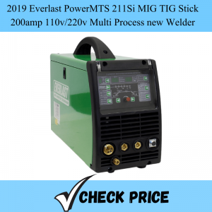 2019 Everlast PowerMTS 211Si MIG TIG Stick 200amp 110v_220v Multi Process new Welder